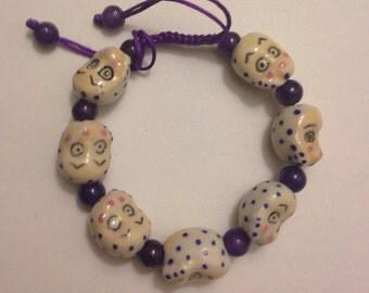 Monkey Bracelet, Porcelain Bracelet, Chinese