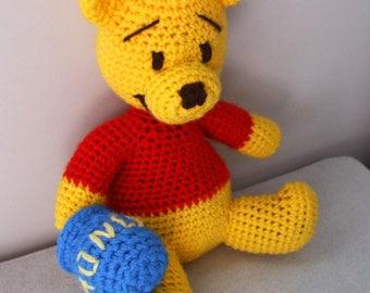 Amigurumi Winnie The Pooh : Winnie the pooh stuffed animal Etsy