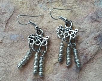 Dangle drop earrings small earrings chandelier/light/beaded/handmade/stylish/modern/gift teen/gift mother/gift birthday/gift friend/earrings