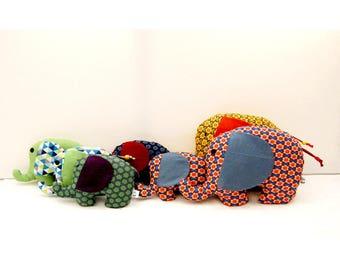 fabric elephant toy baby rattle