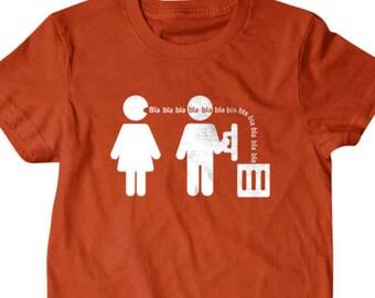 gift for husband , Bla Bla Bla T-shirt,husband T-shirt,  Funny T shirt, gifts for dad, Shirt, Boyfriend, Husband