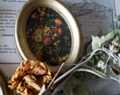 Floral Golden Frame -- Vintage Shabby Chic Wall Art