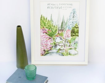 A4 print - He makes everything beautiful