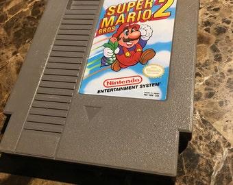 NES 1988 Super Mario Bros. 2 game