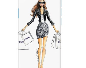 Chanel Shopping Spree Fashion Illustration phone case