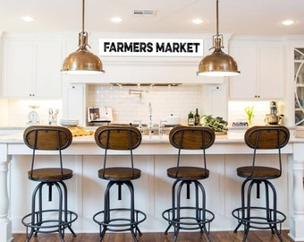 Farmers Market Sign 36 Inches Long Farmhouse Sign For Kitchen Farmhouse  Sign Fixer Upper Signs Farmhouse