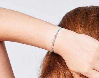 CUSTOM Morse Code Bracelet - Gift for Sister, Brother, Boyfriend, Girlfriend, Son, Nephew - 'Andy' Bracelet
