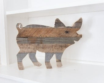 Farmhouse Decor, Rustic Home Decor, Pig Decor, Kitchen Wall Decor,  Farmhouse,