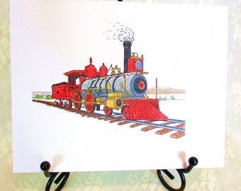 Train Note Card: Add a Greeting or Leave Blank