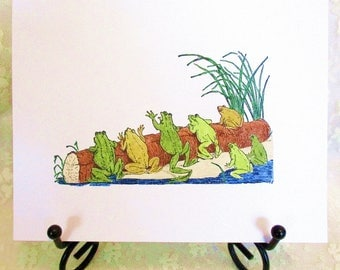 Frogs Note Card : Add a Greeting or Leave Blank
