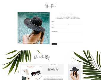 SALE - Feminine Wordpress Theme for Creative Entrepreneurs, Genesis Child theme, eCommerce, Portfolio, Recipes, & Lifetime Theme support