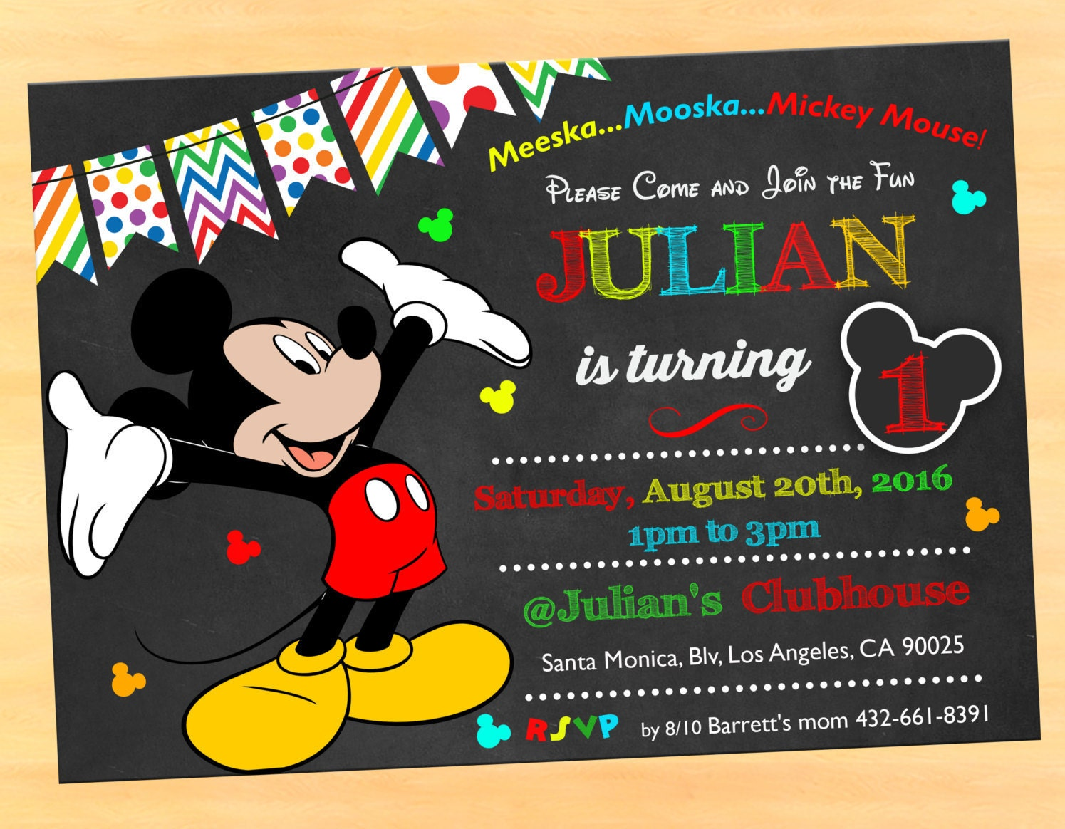 Mickey mouse clubhouse invitation wording Mickey mouse – Mickey Mouse Clubhouse Birthday Invites