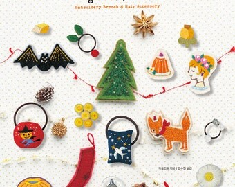 Small And Cute Embroidery Patterns Book Cat Dog Rabbit Bird