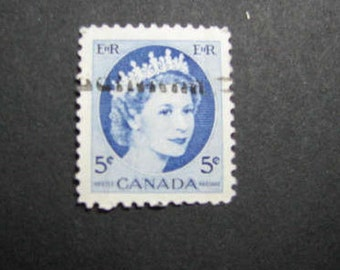 One hundred five cent 1954 Canadian stamps