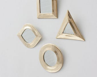 Moroccan Tiny Mirror Set, Brass