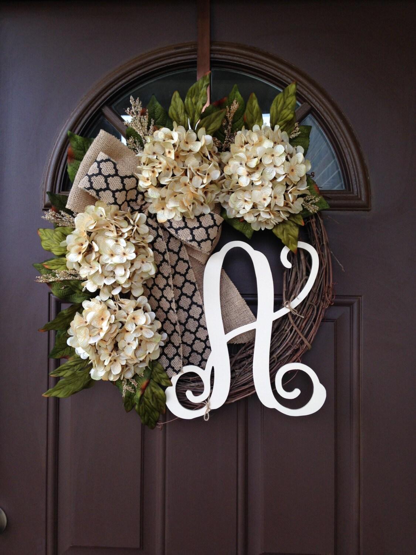 Wreath Wreaths Outdoor Monogrammed Wreath Year Round Front