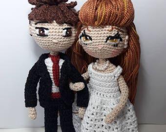 Boyfriends amigurumi, doll amigurumi, boy amigurumi, wedding, amigurumi doll