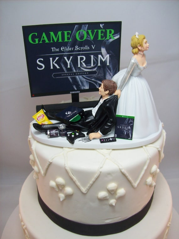 funny wedding cakes images gamer wedding cake topper gaming 14580