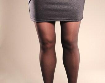 Mini skirt - grey skirt - skirt with pocket - skirt for women