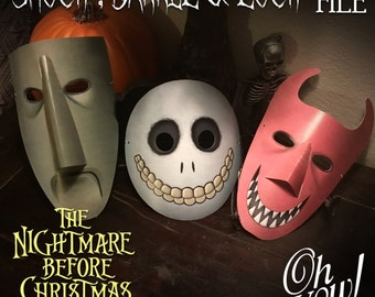 The Nightmare Before Christmas character mask: Lock, Shock & Barrel Digital File