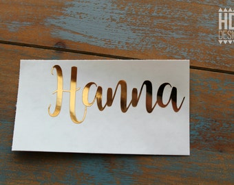Name Decal | Gold Name Decal | Gold Foil Name Decal | Monogrammed decal | Yeti decal | RTIC decal | decal for women | Wedding decal
