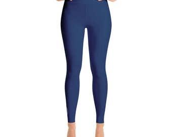 Indigo Leggings - Blue Yoga Pants for Women, High Waisted Workout Pants