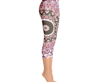 Capris - Mandala Leggings for Women, Printed Workout Leggings, Custom Yoga Pants