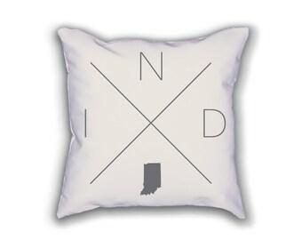 Indianapolis Home Pillow - Indiana Pillow, Indiana Home Decor, Indianapolis Home Decor, Indiana Home Pillow, Indiana Throw Pillow
