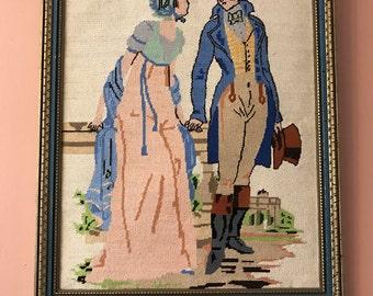 Vintage Needlepoint, Pride & Prejudice, Cross Stitch, Mr Darcy, Jane Austen, Regency Romance (B512)