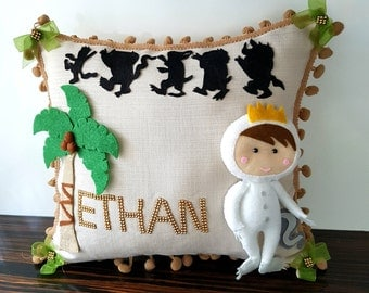 pillow first birthday where the wild things are baby shower