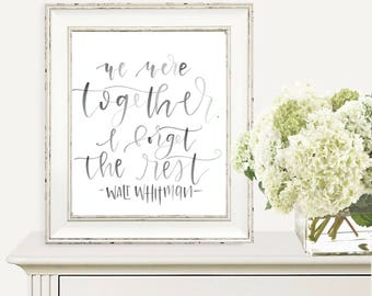 We were together-Downloadable printable