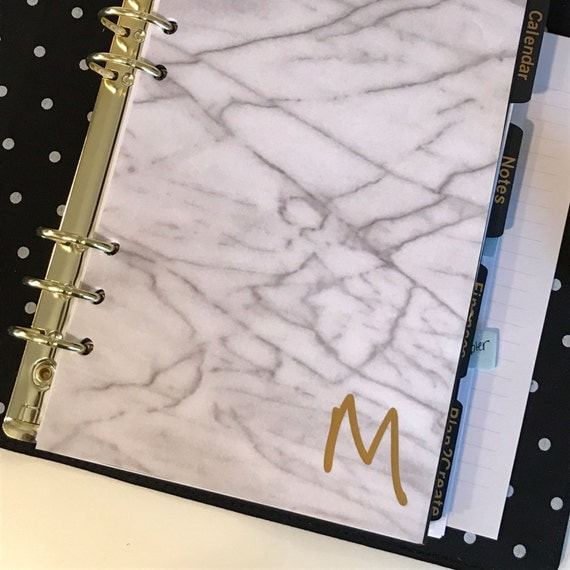 Personalized Marble Planner Dashboard | Personal Size and A5