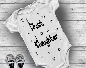Baby clothes girl, Baby girl onesie, Newborn baby girl coming home outfit, New mom gift, Best daughter, cool baby clothes, sibling outfits