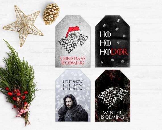 Game of Thrones Christmas Christmas Gift Tags Printable