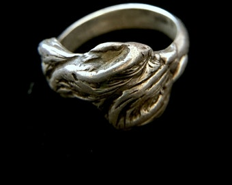 Sterling silver artisan ring, Size 6