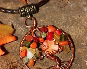 Tree Of Life Pendant, New England SUGAR MAPLE, Tree of Life Jewelry, Wire Tree Pendant