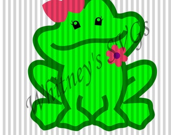 Girl Frog SVG DXF Cutting File