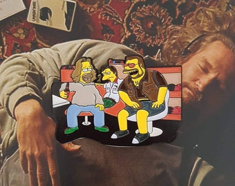 Homer Abides.  The Big Lebowski X Simpsons Enamel Pin Badge.