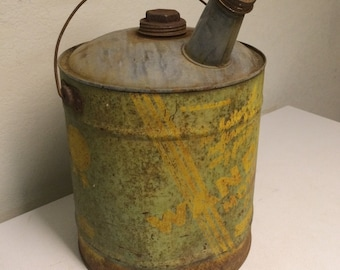 Wanda motor oil can, oil can, vintage oil can, antique oil can, gas can, gas and oil, industrial can, vintage gas can, old gas can, gas, oil