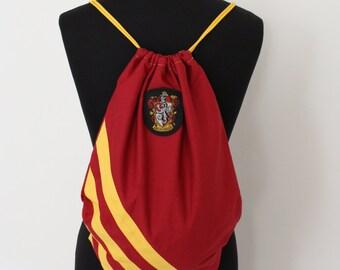 Hogwarts Houses Drawstring Backpack Bag / Shopper - Gryffidor Slytherin Ravenclaw Hufflepuff Harry Potter