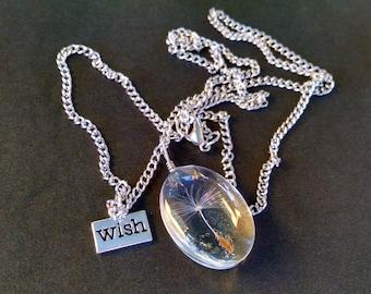 Dandelion necklace, Wish, Bohemian Jewelry