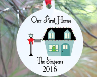 First House, First Home, First House Ornament, First Home Ornament, Our First Home, Personalized First Home Ornament, New House Ornament