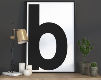 Initial Wall Art letter b wall art | etsy