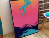 Beautiful Swimmers B2 Giclée Print Poster