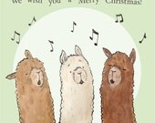 Alpaca Sing-A-Long Christmas Cards. Pack of 5