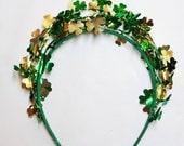 st patricks day headband, shamrock headband, headband adult, saint patricks day outfit, kelly green headband, irish girl headband, clover