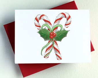 Old Fashioned Candy Cane Card