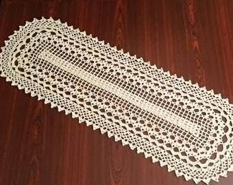 Ivory crochet doily, gift for women,crochet doilies,handmade doily,hook doily,crocheted runners,knit runners,nature runners,easter decor