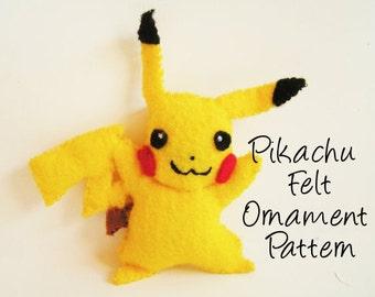 Pikachu Felt Ornament Pattern - Pokemon Christmas Ornament