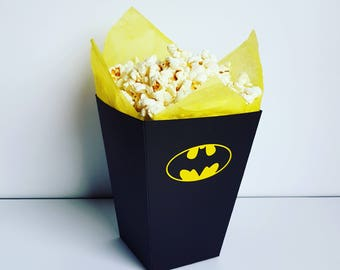 Batman Popcorn Boxes. Set of 4 Boxes